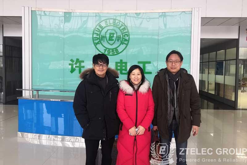 Korean customers came to ZTelec Group to visit fr4 sheet
